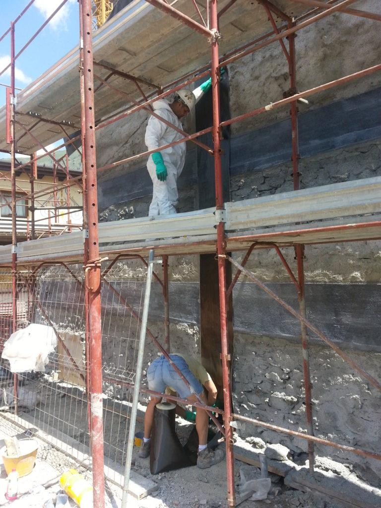 carbonio parete muratura